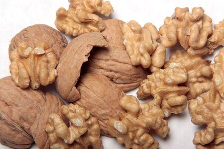 Walnuts and shells.