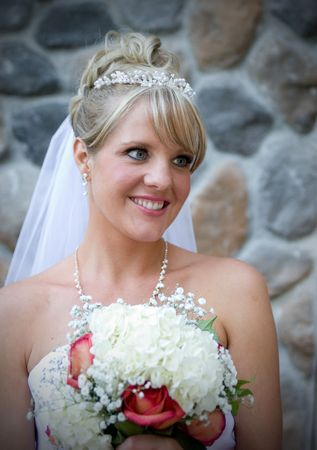 An outdoor portrait of a radiant bride. Stock Photo - 3588544