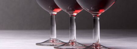A panorama of three wine glasses. Stock Photo - 4168151
