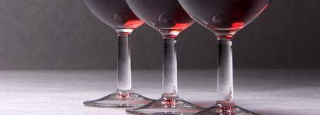 A panorama of three wine glasses. Stock Photo - 4168151