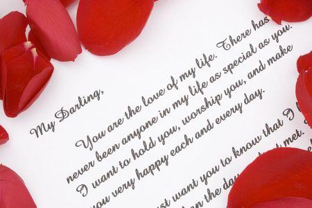 carta de amor: Una carta de amor rom�ntico.
