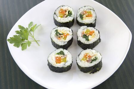 Korean sushi called kimbap 1. photo