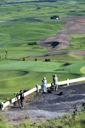 palouse: Photographers take advantage of a clear day to photograph the Palouse from Steptoe Butte in eastern Washington.