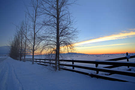 Winter on the Rathdrum Prairie in northern Idaho. Stock Photo - 8555472