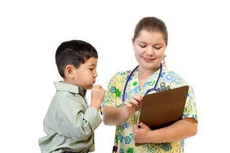Nurse interacts with patient. Stock Photo - 11041456