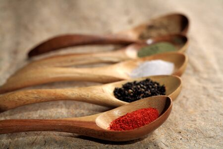 Closeup of dried spices.  photo