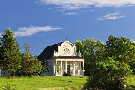 jesuit: The old jesuit mission on a bright day in Cataldo, Idaho