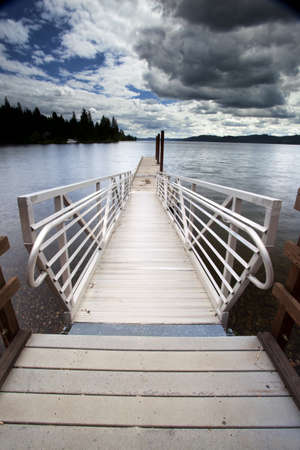 A tranquil image of a dock by the lake Stock Photo - 14238401
