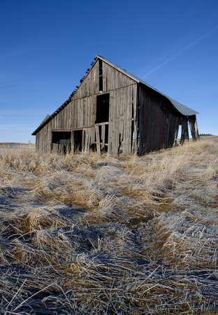 Run down barn on the Palouse  photo