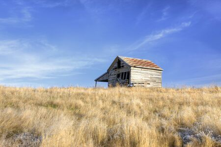 An old rustic barn on the Palouse near the Idaho Washington border on Hwy 6. Stock Photo - 16821623
