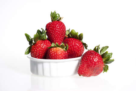 ripe: Ripe strawberries.