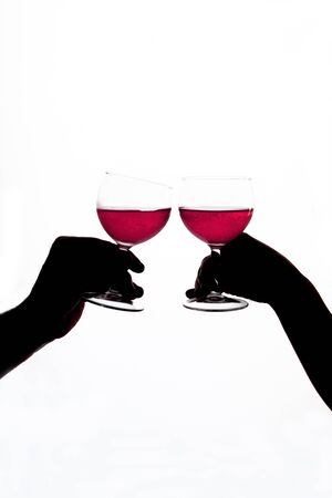 Cheers with wine glasses  Banco de Imagens