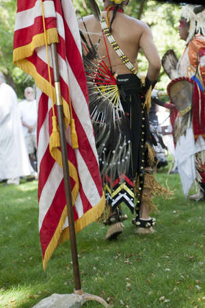 feast: Native Americans at the feast of assumption at Cataldo, Idaho on August 15, 2013  Editorial