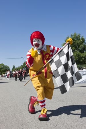 mcdonald: Ronald McDonald making an appearance at the Rathdrum Days in Rathdrum, Idaho on July 20, 2013 Editorial