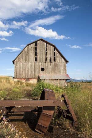 Old weathered barn  photo