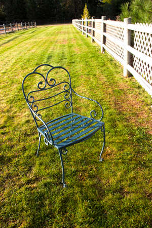 sedia vuota: Sedia vuota su erba
