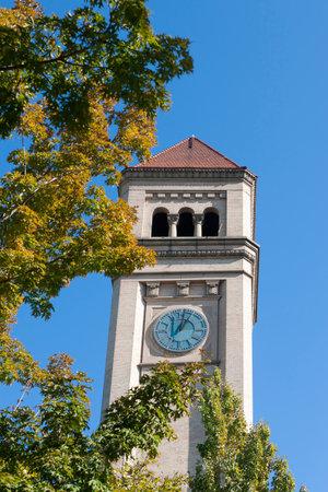 riverfront: Clock tower in Spokane, Washington