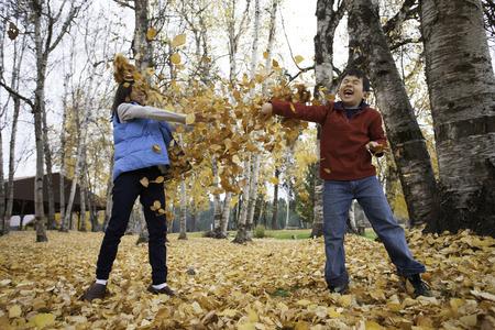 smeared: Getting smeared in fun leaf fight