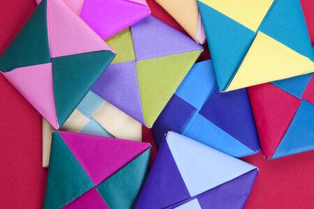 Pile of origami designs