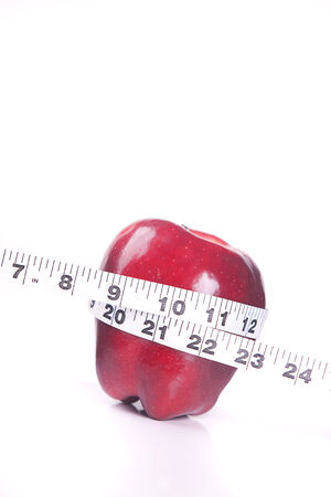 Dieting concept with apple