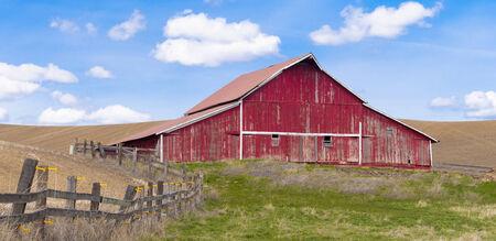 Rural barn panorama  photo