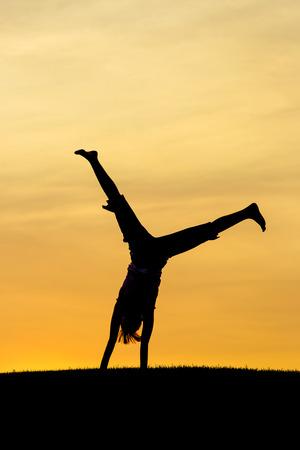 Portrait of a cartwheel