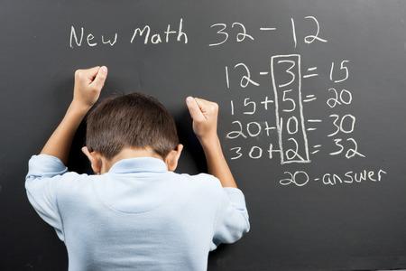 새로운 수학에 좌절감을 느꼈다. 스톡 콘텐츠