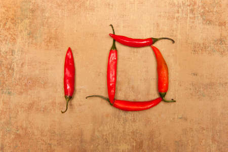 number 10: Number 10 from red peppers.
