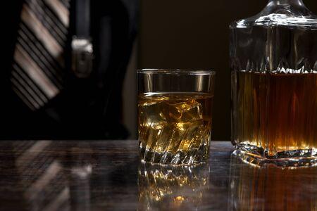 whiskey on the rocks: A Whiskey on the rocks.