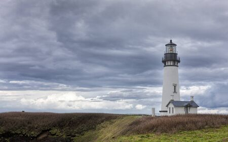 newport: Yaquina bay lighthouse in Newport, Oregon. Stock Photo