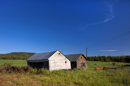 sheds: Rustic sheds near Tensed Idaho. Stock Photo