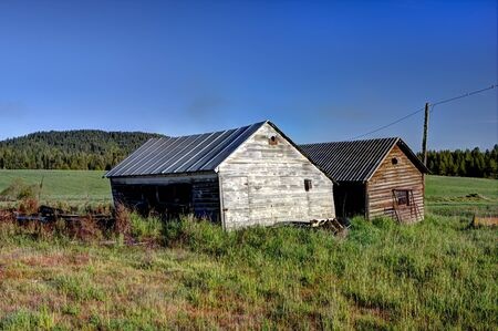 tensed: Two old sheds near Tensed Idaho.