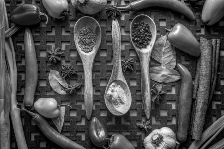 bw: BW of veggies and spices.