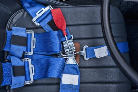 safety harness: A safety harness for a seat belt.