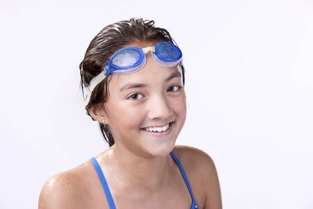 athletic wear: Portrait of young swimmer.
