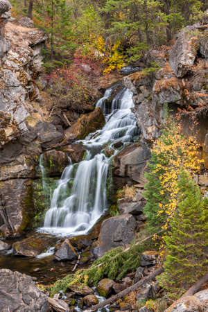 natural force: Overview of Crystal falls along highway 20 in northeast Washington.