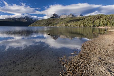 redfish: Redfish Lake on a sunny day near Stanley, Idaho. Stock Photo