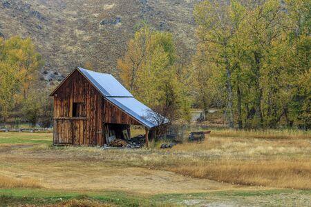 Old barn in Autumn in western Montana.