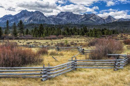 Countryside near Stanley, Idaho. Stok Fotoğraf