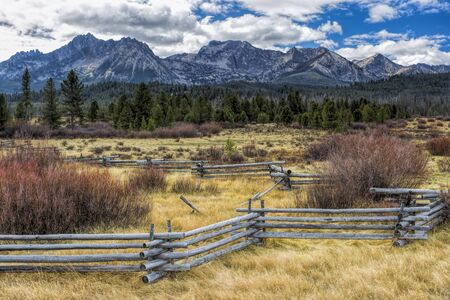 stanley: Countryside near Stanley, Idaho. Stock Photo