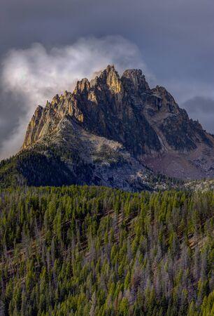 stanley: Majestic Braxon Peak near Stanley, Idaho.