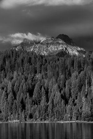 stanley: View of Williams Peak from Redfish Lake near Stanley, Idaho.
