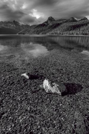 redfish: The shallow Redfish Lake in Idaho.