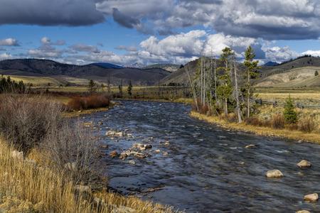 stanley: The scenic Salmon River near Stanley, Idaho. Stock Photo