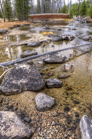 redfish: Rocks in Redfish Creek in Idaho.