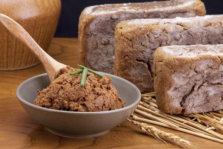 Brown soy bean paste. Stok Fotoğraf