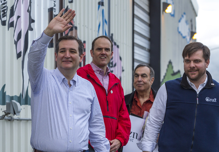ted: Ted Cruz waves to supporters at a campaign rally in Coeur dAlene, Idaho on March 5, 2016. Editorial