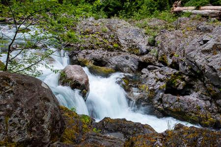 sol duc river: Sol Duc river cascades in Washington.