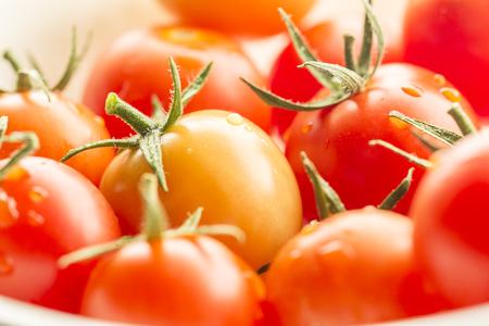 Macro image of cherry tomatoes.