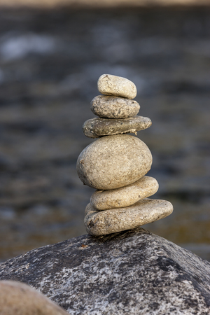 Small rock cairn.